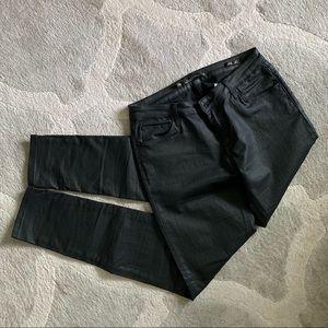 Zara woman coated skinny jeans